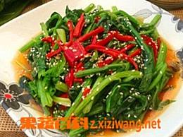 韩国凉拌菠菜的做法和材料