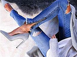 牛仔裤能配高跟鞋吗