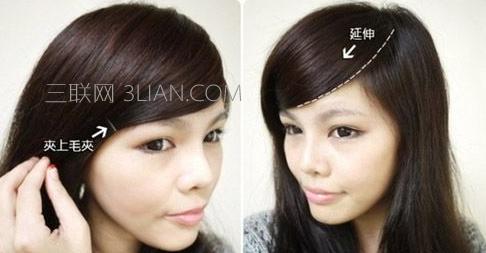 韩式齐刘海怎么剪好看女生斜刘海怎么剪好看用卷发棒