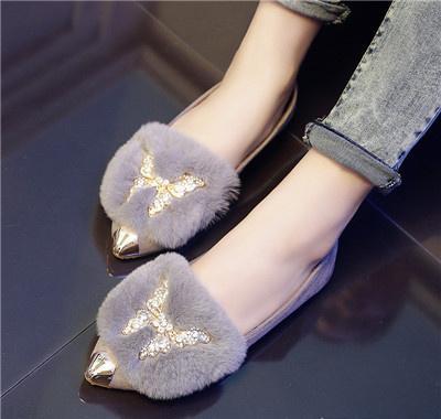 气质尖头平底鞋
