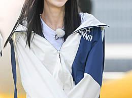 孩子王Angelababy新发型黑长直 真的很好看!