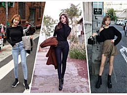 黑色T恤如何搭配裤子好看   黑色T恤如何可以穿衣显瘦