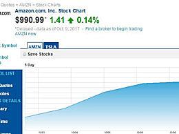 亚马逊股价4连涨 CEO贝佐斯的财富因此增加了178.1亿元