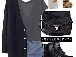 开衫+T恤+短裤,初秋显高的必备穿衣搭配!