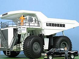 世界上最高的汽车利勃海尔T282长15米 宽97米(已停产)