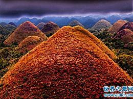 巧克力山 菲律宾最奇怪的山(它会在夏天自然变色 但只有草会生长 但树不会生长)