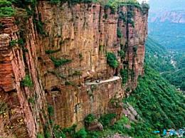 世界上最大的回音墙 300多米的太行山音洞墙