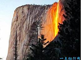 马尾瀑布 世界上最美丽的瀑布 就像火山爆发和岩浆飞溅