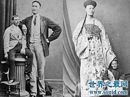 世界上最高的男人 清朝的詹士珍 身高超过三米 娶了一个外国妻子