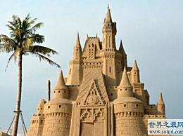 世界上最高的沙堡 设计师用了3500吨沙子
