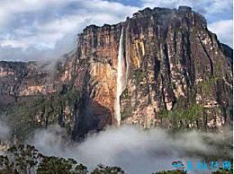 天使瀑布 世界上落差最大的瀑布 从3000英尺高处飞下