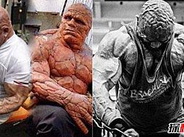 世界上最强壮的人:石头人的真实版本头部有肌肉