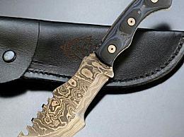 冷兵器大马士革刀隐藏着神秘 刀体由小锯齿组成