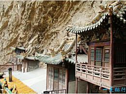 世界上最危险的寺庙 横山悬空寺矗立在悬崖之间