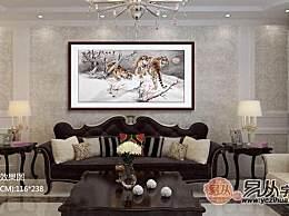 客厅沙发墙装饰画新选择 动物画打造家居好风水